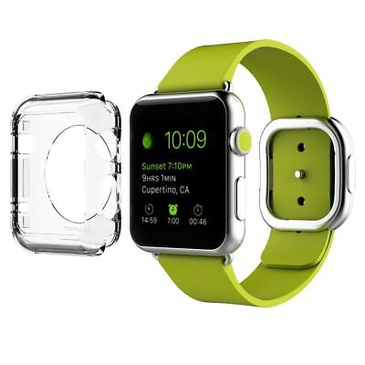 LUVVITT APPLE WATCH 38mm CLEAR CASE PLUS TEMPERED GLASS  PROTECTIVE FILM SCREEN