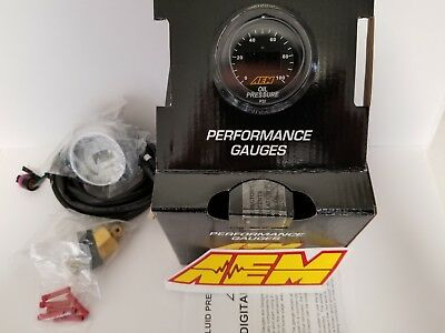 AEM Power 52mm Digital Gauge Oil / Fuel Pressure 0-100 PSI 7 Bar Universal NEW