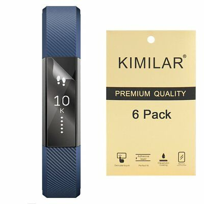 KIMILAR 6 PACK Ultra Clear HD Film Screen Protector Skin Cover For FitBit Alta