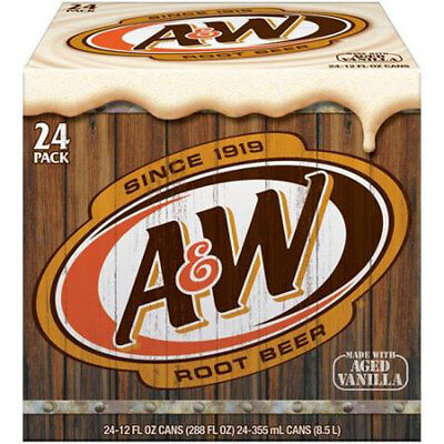 A & W Root Beer (24 x 355ml Cans in a Display Unit)