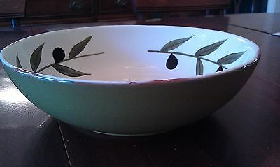 Olive Pottery by Style Eyes Large Salad Serving Bowl Green