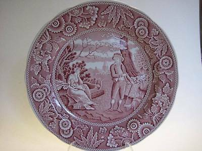 The Spode Archive Collection Georgian Series Woodman Plate Cranberry Red