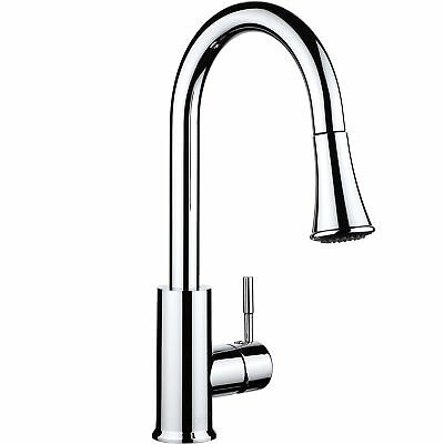 pH7 Single Handle Pull Down Sprayer Kitchen Sink Faucet Stainless Steel Kitchen