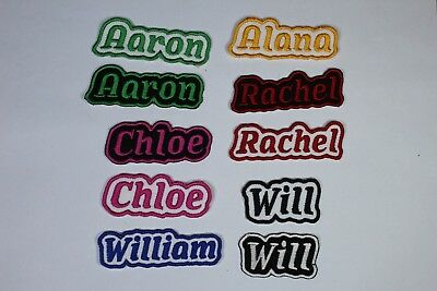 Personalised Embroidered Name Patch - Iron or sew on **FREE  POST*
