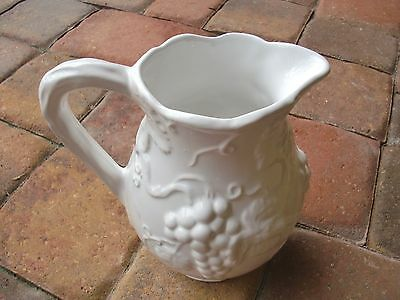 """VTG POTUGAL""""Willfred ANDREA by SADEK""""Art Deco Style White Grapes PITCHER JUG 8""""T"""
