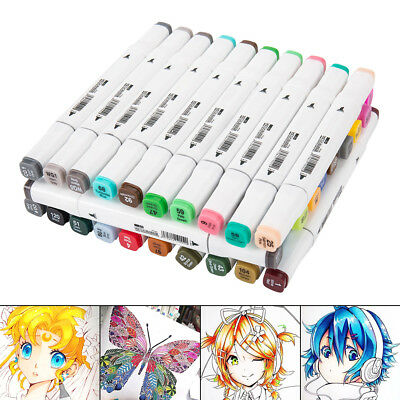 30Colors Dual Headed Artist Sketch Copic Markers Pen For Animation Set