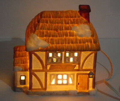 Vintage 1987 Brinn's Village of the Dickens' Era Lighted Building BUTCHERY SHOP
