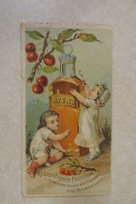 VV14 Vintage Victorian Trade Card Advertisement Ayers Cherry Pectoral Lowell MA