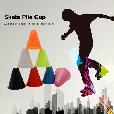10PCS Skate Pile Cup Windproof Anti-slip Roller Skating Cone Training Marker WO