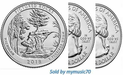 2018 P+D Pictured Rocks National Lakeshore (MI) 2 Park Quarter Set **ON HAND**
