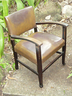 Original 30s 40s Armchair Sturdy Old Vintage Button Tack Chair DELIVERY