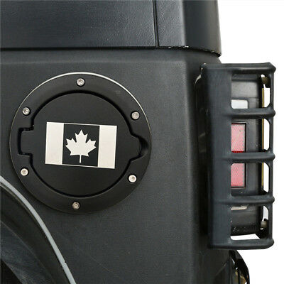 Canada Flag Gas Fuel Tanks Cap Cover Black For 07-18 Jeep Wrangler JK &Unlimited