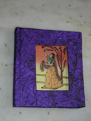 Scrap Book Gemstone Painting Lady And Tree Decorative Collectible Gift Notebook