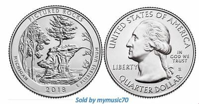 2018 S Pictured Rocks National Lakeshore PARK QUARTER (MI) **ON HAND**