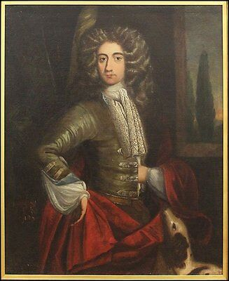 HUGE RARE ANTIQUE 17th, 18th Century Oil Painting Sir Godfrey Kneller