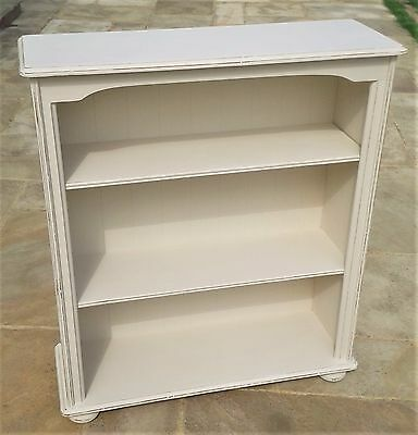 Beautiful Large Cream Shabby Chic Solid Pine Bookcase Shelves