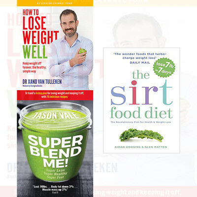 The Sirtfood Diet: The revolutionary plan for health 3 Books Collection Set NEW