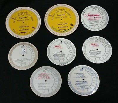 Vintage Advertising Profit Finder Calculator Wheels Lot Of 8 Plastic Cardboard