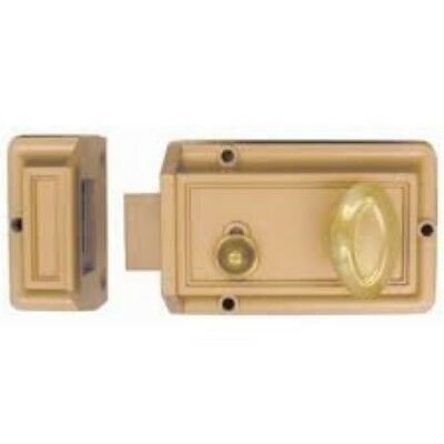 Guard Security Solid Brass Rim Night Latch Door Lock