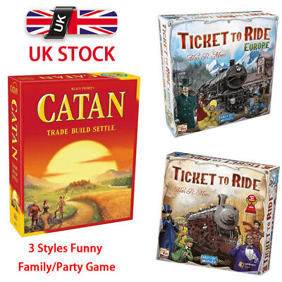 Brand New TICKET TO RIDE Origin Edition Europe Family Board Game Great Gift