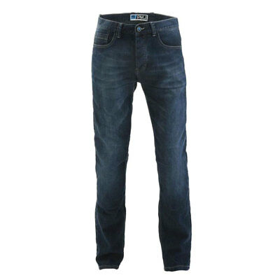 PMJ Rider Mid Blue Moto Motorcycle Motorbike Slim Fit Denim Jeans | All Sizes