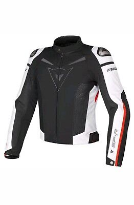 Dainese Super Speed Textile Motocycle Jacket Black/White/Red all size available