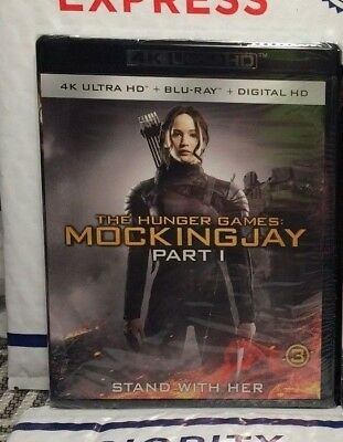 New The Hunger Games Mockingjay Pt 1 On 4K Ultra Hd+Blu-Ray+Digital Hd! Sealed
