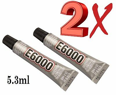 E6000 Glue Industrial Strenght Multi-Purpose 5.3ml Clear Crystals & Beads 2X