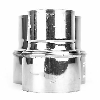 Stainless Steel Reducer Ducting Pipe Steel Connector Adaptor Chimney Flue Liner
