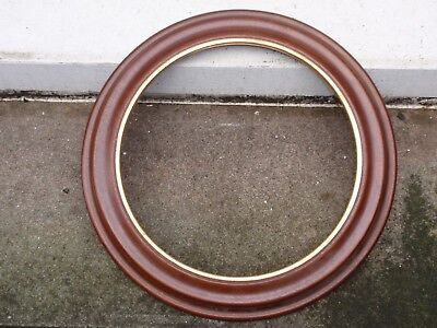 "Van Hygan & Smythe Round Hanging Wooden Collector 8 3/4"" Plate Display Frame"