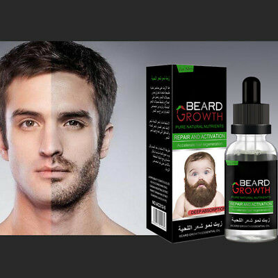 Beard Fast Growth Oil Essence Natural Moisturizing Thick Gentlemen Styling Cares