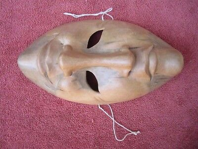 Vintage Two Faced (Happy-Sad) wooden Mask