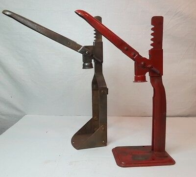Pair of Vintage Bottle Capping Machines ~ Climax & Red Diamond Brewery Decor