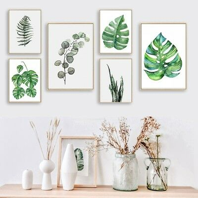 Modern Art Plant Canvas Print Painting Picture Wall Hanging Mural Decor Unframed