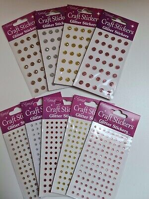 Rose Gold Self Adhesive Sparkly 4mm or 8mm Gems Stickers Eleganza Crafts