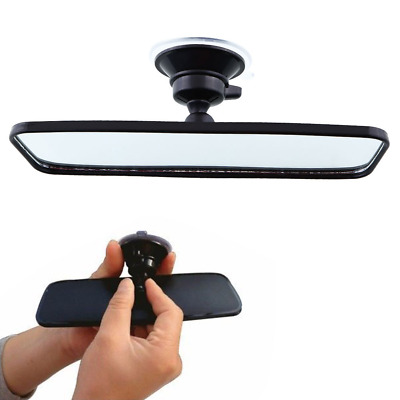 200mm Wide angle Flat Car Care Truck Interior Rearview Rear View Mirror Suction