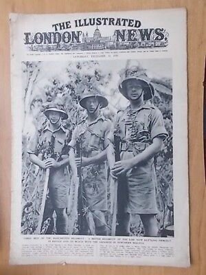 WWII ILLUSTRATED LONDON NEWS - DECEMBER 20th 1941 - MEN OF MANCHESTER REGIMENT