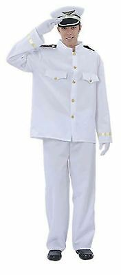 New Mens Captain Sailor Officer Uniform Costume Navy Officer Fancy Party Outfit