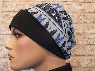 Reverserable 2 in 1 - Jersey Hat Headwear for Cancer, Chemo, Hair Loss, Leukemia
