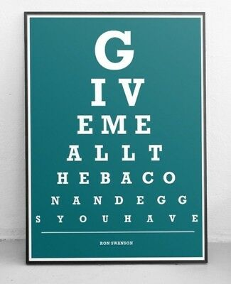 Ron Swanson Eye Test Chart / Print / Art - Parks and Recreation