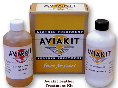 Lewis Leathers Aviakit Leather Treatment Kit. Suitable for Jacket, Boots, Gloves