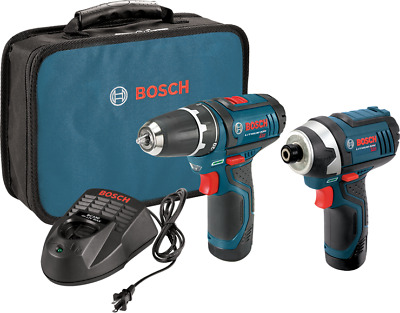 New Bosch CLPK22-120 12v Drill/Driver and Impact Driver Kit in Soft Bag