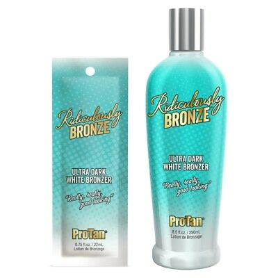Pro Tan Ridiculously Bronze Ultra Dark White Bronzer sunbed tanning lotion cream