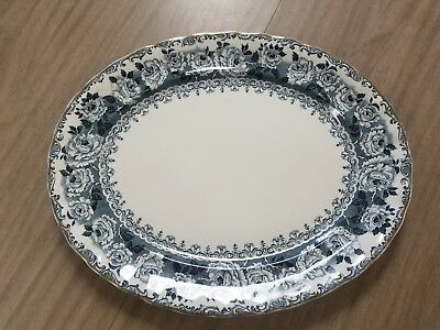 Keeling & Co Late Mayers Large Serving Platter in the Chester Pattern Blue Roses
