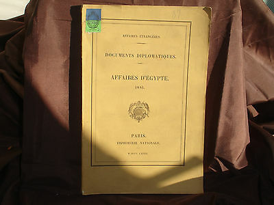 Documents Diplomatic,Business Genuine Ancient Egyptian Faience 1881; Exchange of