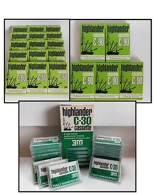 Lot of 48 New Old Stock Scotch Highlander Blank Audio Cassette Tapes