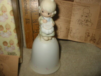 vintage precious moment bell mother sew dear enesco jonathan david figurine