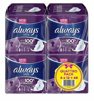 Always Sanitary Towels Super Long with Wings 4x12 Serviet... *SAME DAY DESPATCH*