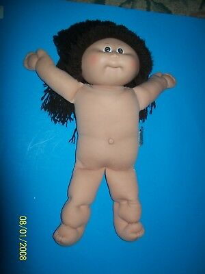CABBAGE PATCH KIDS DOLL coleco head  brown hair 001