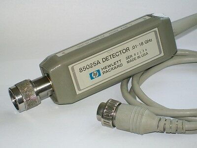 AGILENT HEWLETT PACKARD HP85025A 18 ghz detector scalar analyzer HP 8757A 85025A